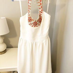 Gorgeous Shoshanna Halter Dress w Beaded Neckline